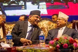 माधव नेपाल लाई भेट्न कोटेश्वर पुगे प्रचण्ड